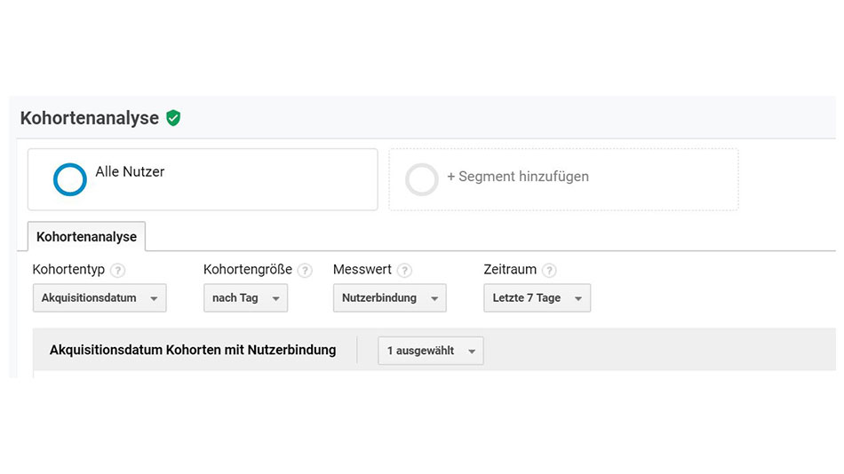 google analytics kohortenanalyse