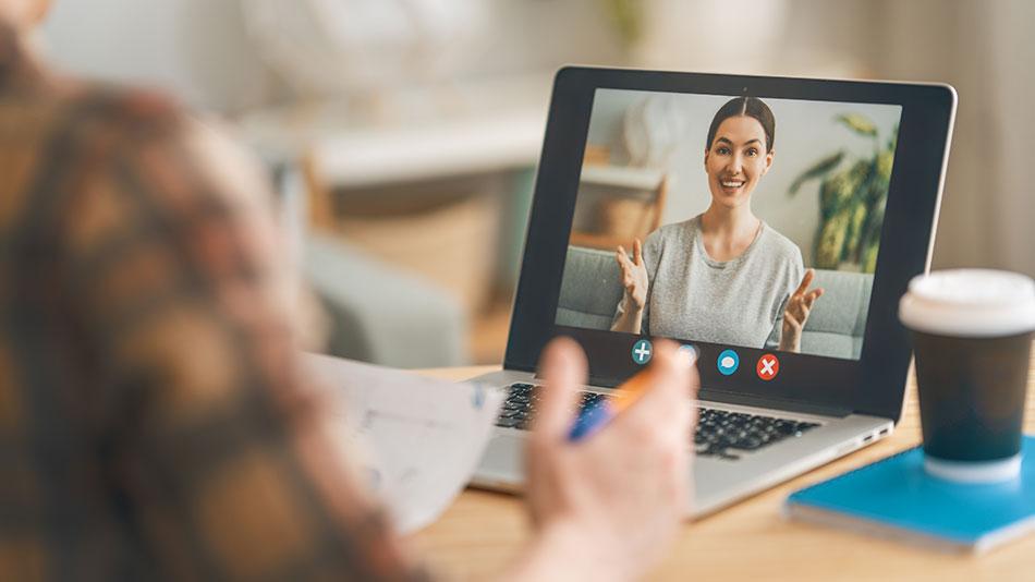 Video Chat am laptop